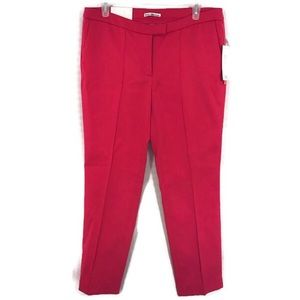 Dalia Cropped Pants textured hot pink ankle length